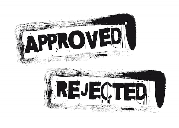 承認され、拒否された切手
