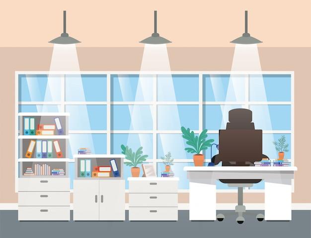 現代オフィスのボスシーン