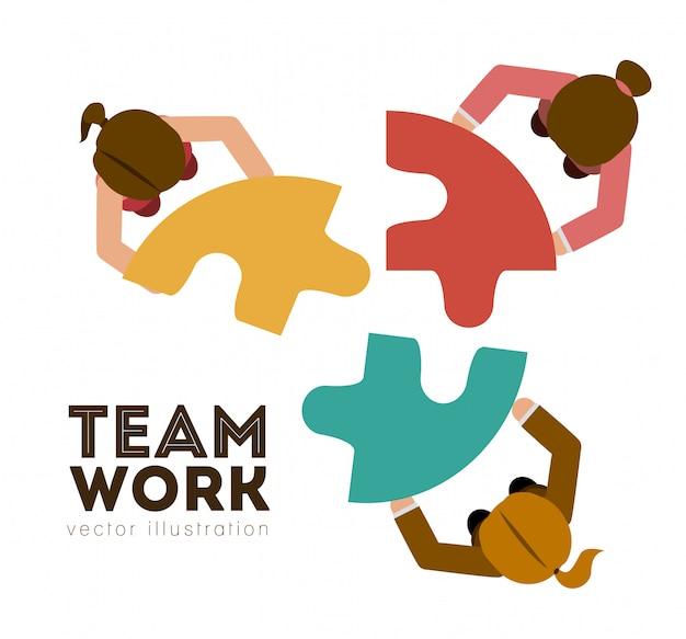 チームワークデザイン、ベクトル図。