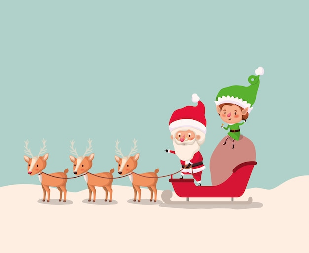 サンタクロースとスレッド付きヘルパー