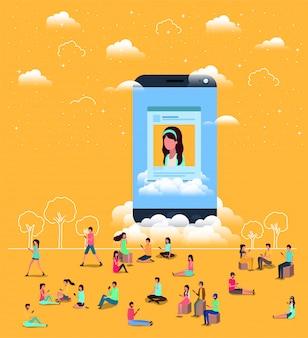 スマートフォンを使ったソーシャルコミュニティ