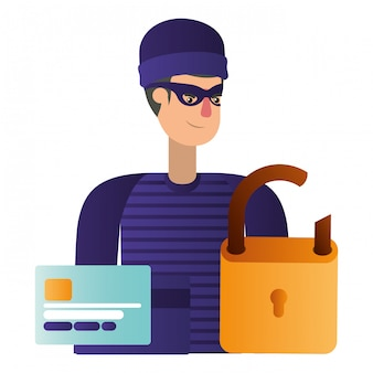 ハッカー盗む情報アバターキャラクター