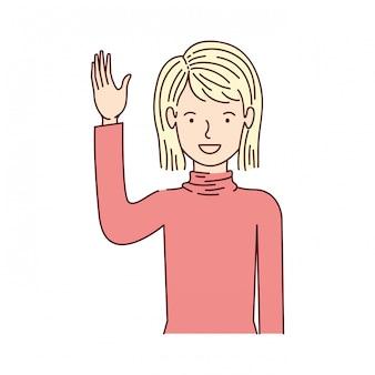 若い女性のアバターキャラクター