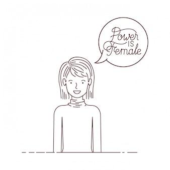 Женщина с силой ярлыка - женский персонаж аватара