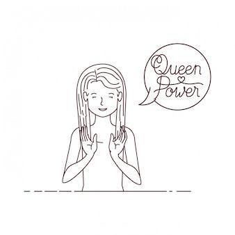 Женщина с меткой королевы власти аватар персонажа