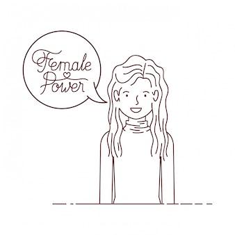 Женщина с меткой женской силы аватара персонажа
