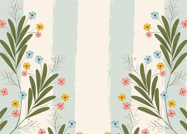 花飾り付きポストカード
