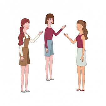アバターのキャラクターに立っている若い女性