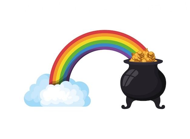 レプラコーン大釜分離アイコンが付いている虹