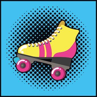 レトロなスケートポップアートスタイル