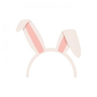 Кроличьи уши изолированные значок