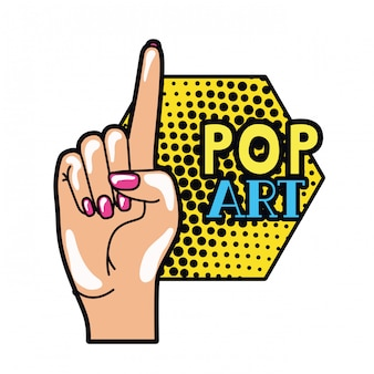ポップアートを人差し指で手