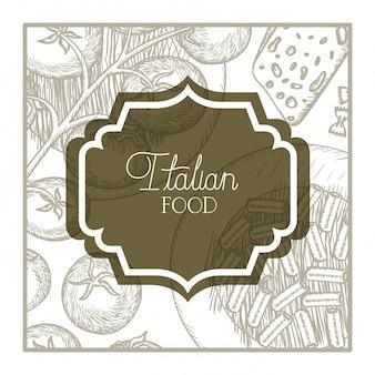イタリア料理とエレガントなフレームビクトリア朝