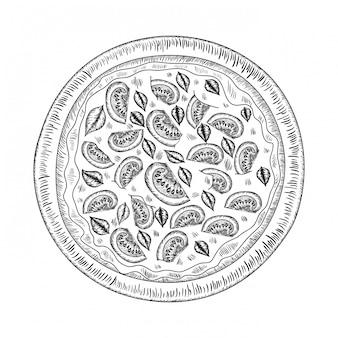 おいしいイタリアのピザ絶縁アイコン