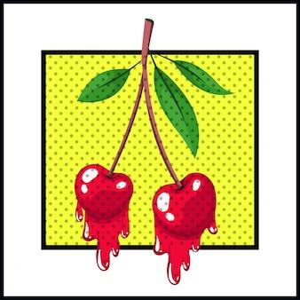 ポップアート風のしだれ桜フルーツ