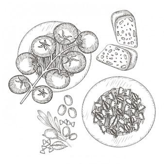 図面でおいしいイタリア料理