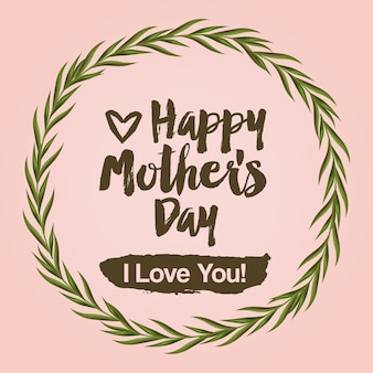 幸せな母親の日のデザイン