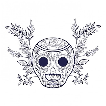 メキシコの頭蓋骨絶縁アイコン