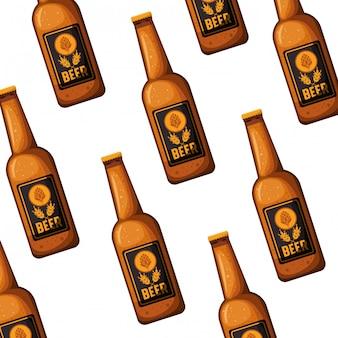 Выкройка бутылка пива, изолированных значок