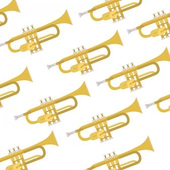 Трубный образец музыкального инструмента