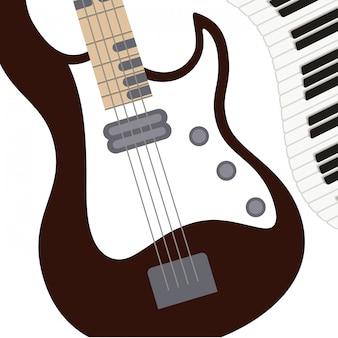 Музыкальный инструмент выкройка электрогитары