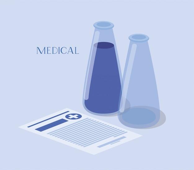 Медицинские трубки тесты лекарств с заказом