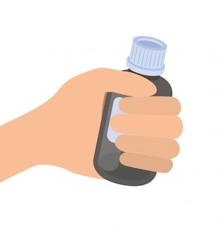 薬の薬を分離した手
