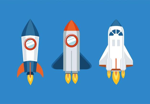 Набор иконок ракеты