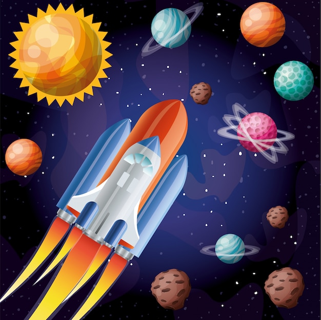 炎と惑星のロケット
