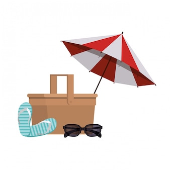 夏用ビーチパラソルストライプ