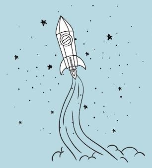 ロケットと星