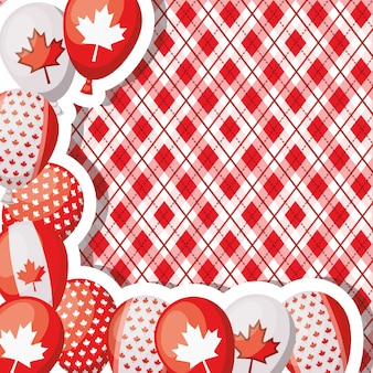 カエデの葉とカナダの日