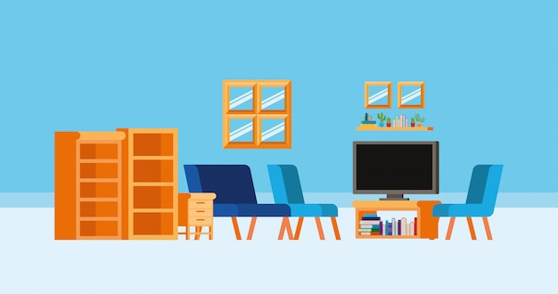 本のある自宅学習室