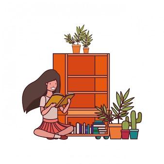Студентка с книгой в руках