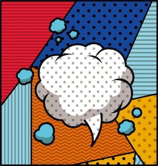 音声バブルポップアートスタイルのベクトル図