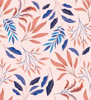 Цвета листьев естественный узор фона