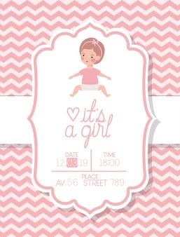 Это открытка на празднование появления ребенка с маленьким ребенком