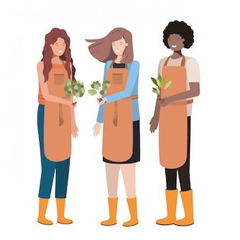 Группа садовников аватар персонажа