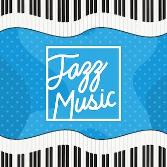ピアノキーボードとジャズの日のポスター
