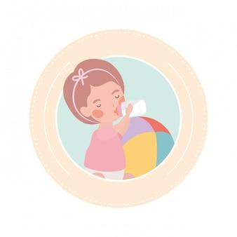 かわいい赤ちゃんのアバターキャラクターを再生