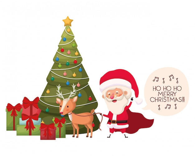 クリスマスツリーのアバターキャラクターとエルフ