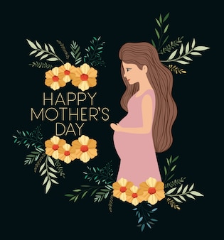 妊娠ママとハッピーママの日カード