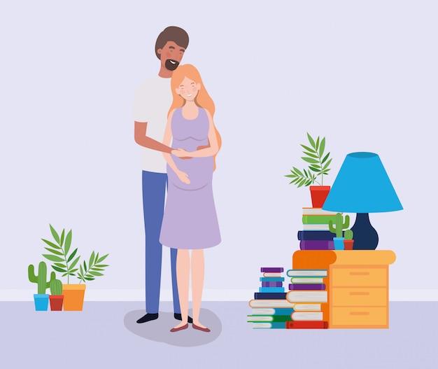 Любители беременности пара в доме