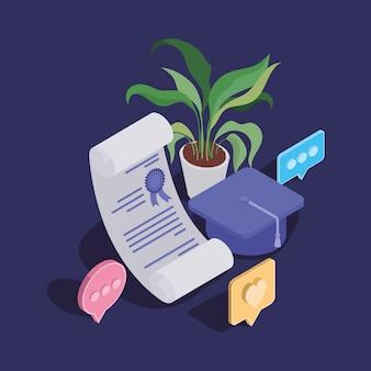 卒業証書を使用したオンライン教育技術