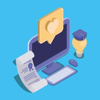 デスクトップを使用したオンライン教育テクノロジー