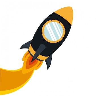 宇宙ロケットのクリップアート