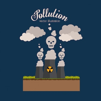汚染の図。