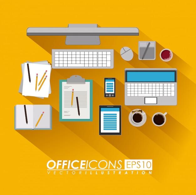 Дизайн офиса, векторная иллюстрация.