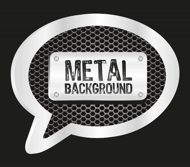 Металлический текстовый шар с рисунком сетки на черном