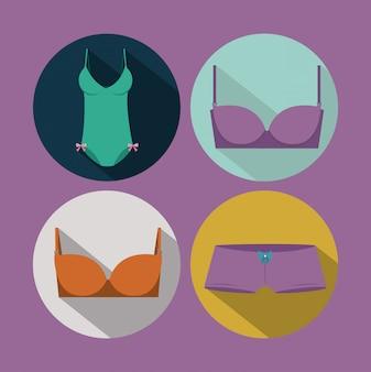 Женское белье, векторная иллюстрация